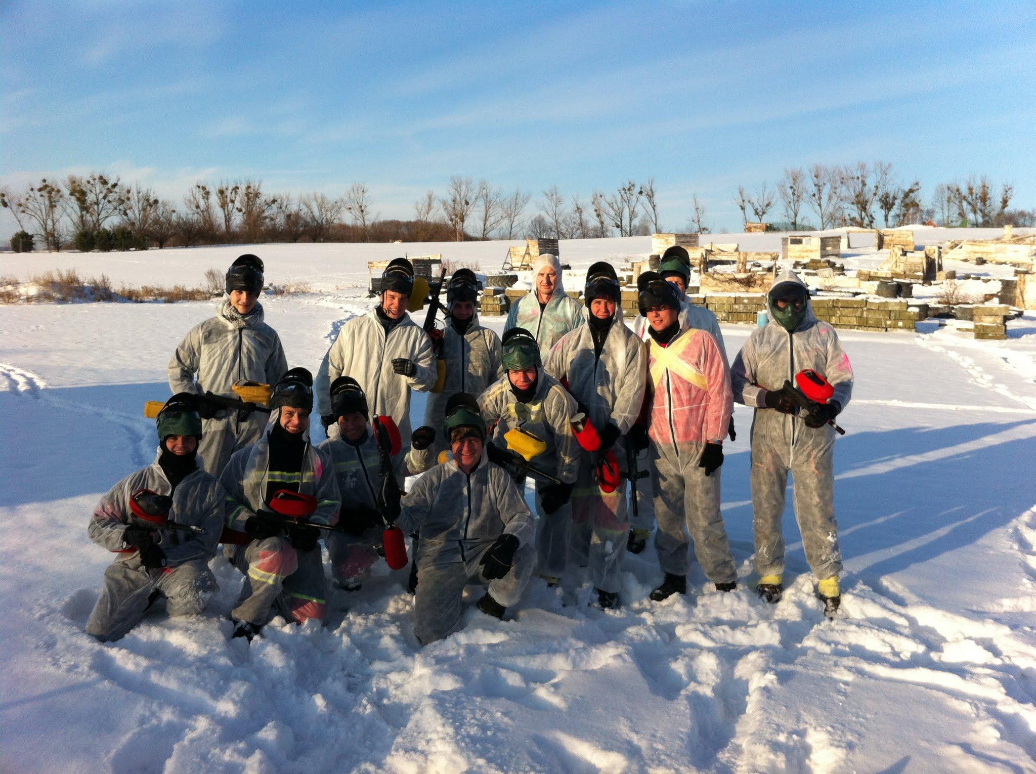 Paintball v zimě